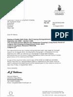 2013-08-17-(2013-08-15)-MichaelGibbonsCCToRobNanceFOLRMC-RailCrossingExtinguishmentOrder