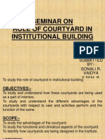 Role of Courtyard in Public Building