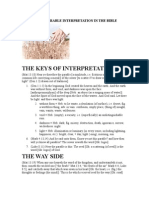 The Keys to Parable Interpretation in the Bible
