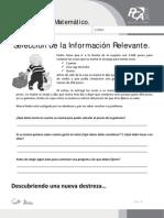 FICHA 12, SELECCIÓN DE LA INFORMACIÓN RELEVANTE