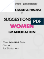Suggestions for Women Emancipation in India