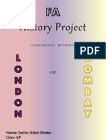 Comparison between London and Bombay