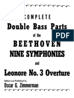 Zimmerman - The Complete Double Bass Parts Beethoven Symphonies and Leonore No 3 Overture