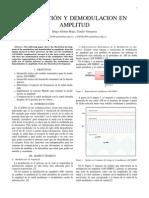 Modulacion y Demodulacion en Amplitud