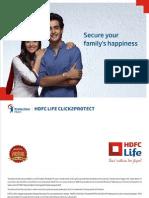 Hdfc Life Click 2 Protect Plan Brochure