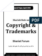Shariah Rule on Copyright & Trademarks [Shariat Forum - Research Paper April 2013]