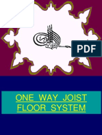 One Way Joist Floor System