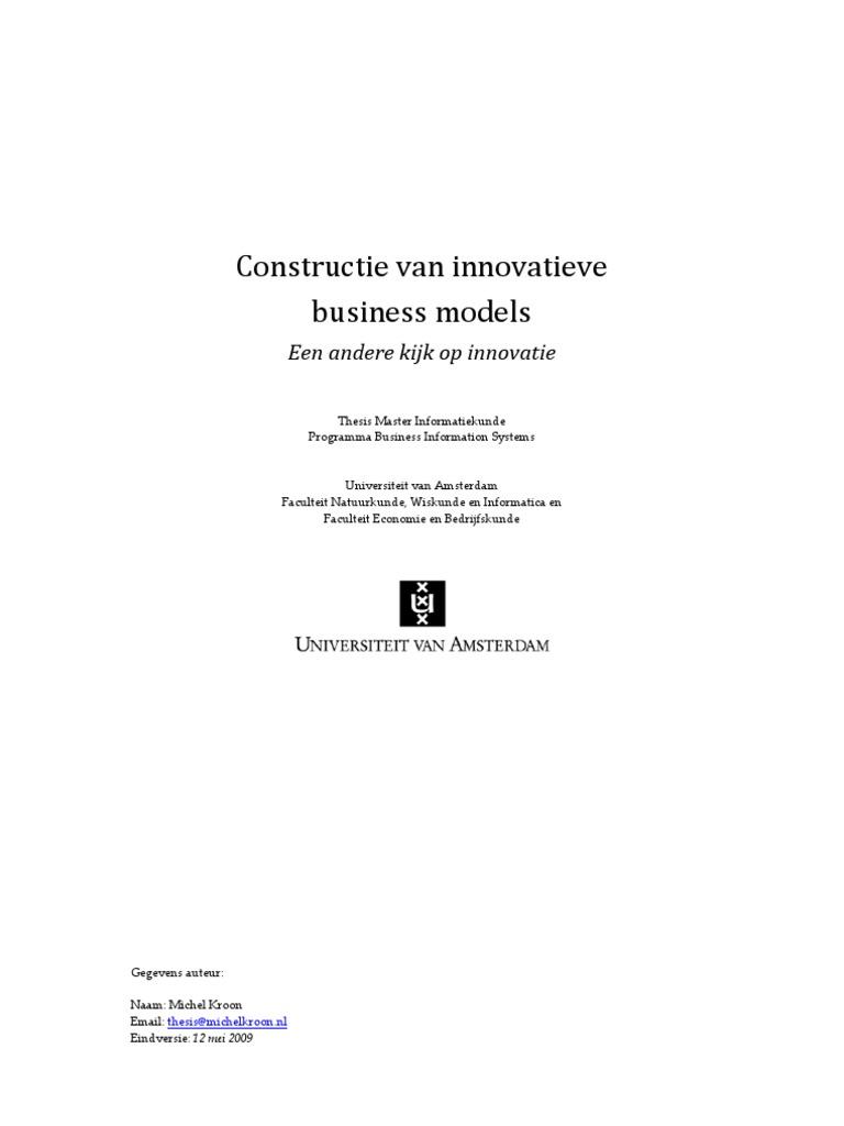 master thesis bedrijfskunde ru