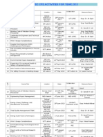 List of CPD Courses 2013