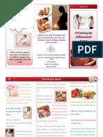 Folder gestante alimentação saudável
