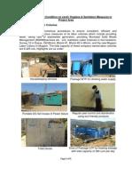 Annexure 1 Hygiene Sanitation Report