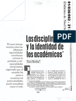 01036002 BECHER Las Disciplinas y La Identidad de Los Academicos
