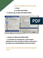 Pasos Para Hacer Un Trabajo en Microsoft Word