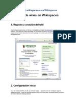 Creación de wikis en Wikispaces