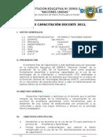 Plan de Capacitacion Docente 2012