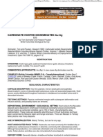 Carbonate Hosted Disseminated Gold Silver - Mineral Deposit P..