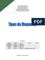 Tipos d Memorias de Un Procesador