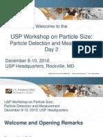 USP Workshop on Particle Size