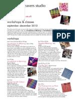 Workshops Autumn2013