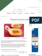Receta de Crema Catalana