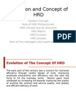 Evolution and concept of HRD