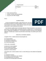 Escola Alírio Afonso de Assi1 avaliação do 5 ano II unidade