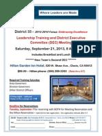 Leadership Training - DeC - Sept 21 2013 in Clovis CA Draft2AAA
