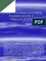 Algunos Conceptos Basicos Sobre Planificacion y Presupuesto
