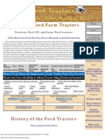 Ford Tractors and the Ford Farm Tractors History