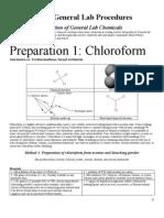 Preperation of Chloroform