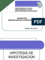 Tema 3.4 Hipótesis de investigación