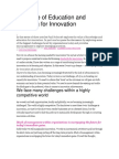 The Role of Education and Learning for Innovation