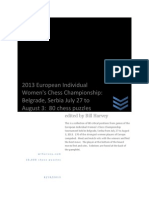 2013 European Women's Chess Championship - Belgrade, Serbia - 80 chess puzzles from the tournament.