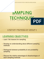 Report on Sampling Techniques