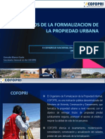 Beneficios de La Formalizacion Urbana-Gonzalo Blanco