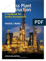 Process Plant Construction a Handbook for Quality Management