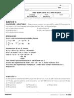 Resolucao Desafio 9ano Fund2 Matematica 250513