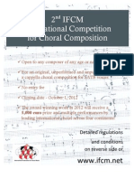 82 IFCM International Competition for Choral Compositions 2012