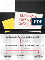 Europa a Fines Del Siglo Xix