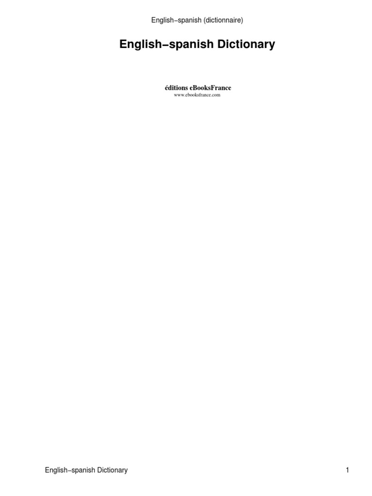Anon diccionario ingles espaol malvernweather Gallery