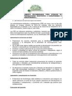 Medidas de Aislamiento Recomendadas Para Atencion de Pacientes Con Enterobacterias Resistentes a Carbapenemes o Productoras de Carbapenemasa