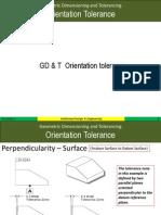 Orientation Tolerance Gdt