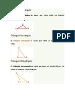 Triángulos segun sus lados y anuglos
