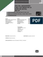 EVALUACIoN DEL DESEMPEÑO DE REDES 802.11 EN LA TRANSMISIoN DE DATOS VOZ Y VIDEO IP