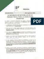 AFIP sobre Seychelles