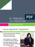 El Tema Del Amor en La Literatura.