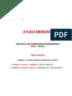 Carretera Interoceánica Chimbote Tocache AYUDA MEMORIA