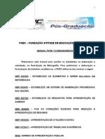 MANUAL DE MONOGRAFIA - FORMATAÇÃO - FAEC 2011