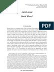 Bloor Anti Latour