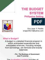 Philippine Budget System Efportillo